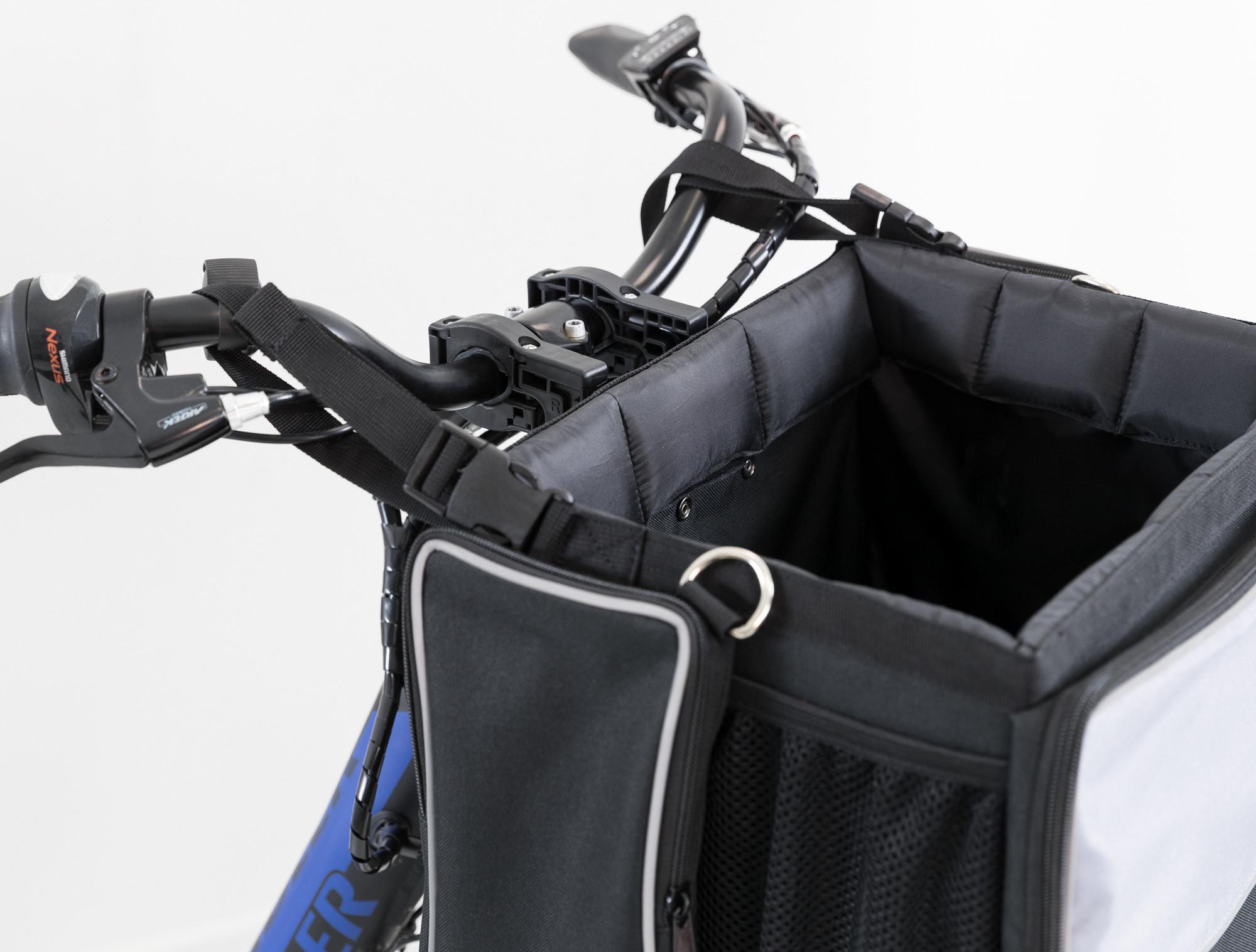 Fahrradtasche für Hund und Katze für den Lenker