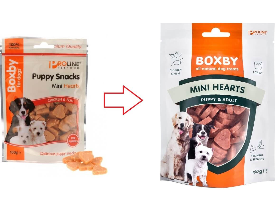 Boxby Mini Hearts Hundesnack