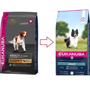 Eukanuba Adult Kleine/Mittelgroβe Rassen mit viel Lamm & Reis Hundefutter