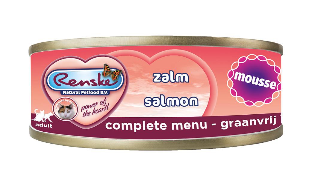 Renske Mousse Lachs Katzen-Nassfutter (70 gr)