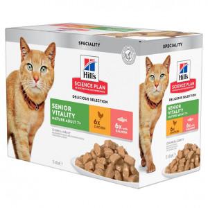 Hill's Mature Adult Senior Vitality Kombipack Katzen-Nassfutter12x85g