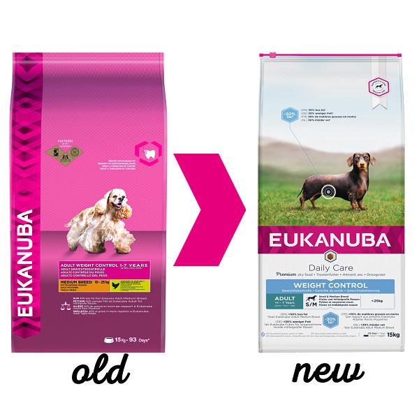 Eukanuba Daily Care Adult Weight Control Kleine/ Mittelgroße Rassen Hundefutter