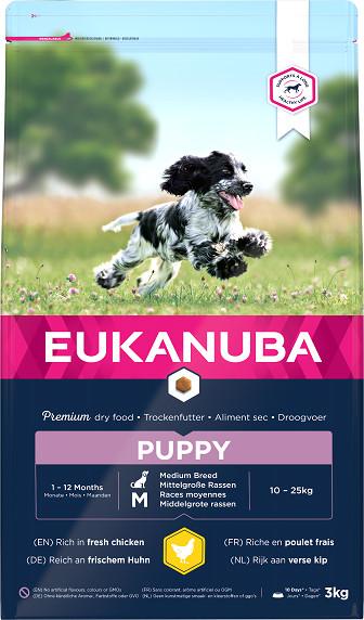 Eukanuba Growing Puppy Medium Breed kip hondenvoer