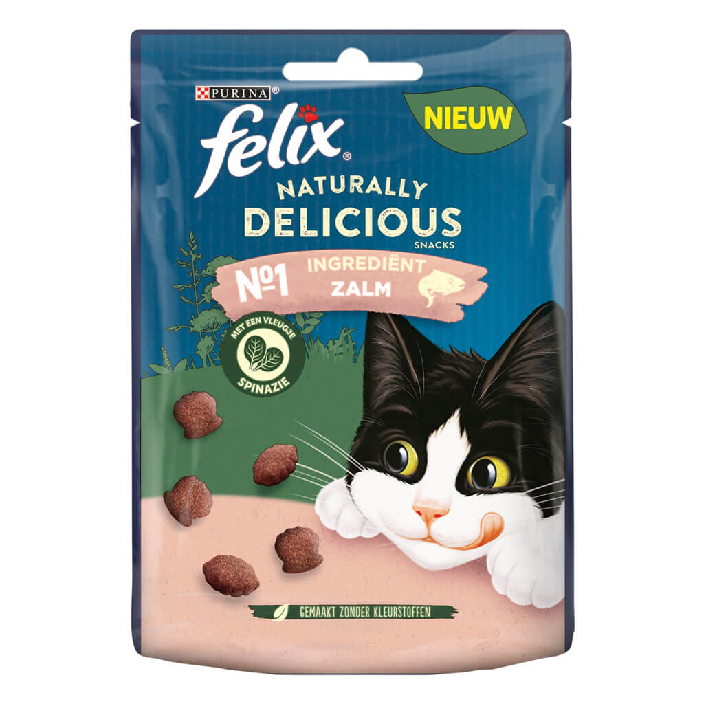 Felix Naturally Delicious Rijk aan zalm kattensnoep