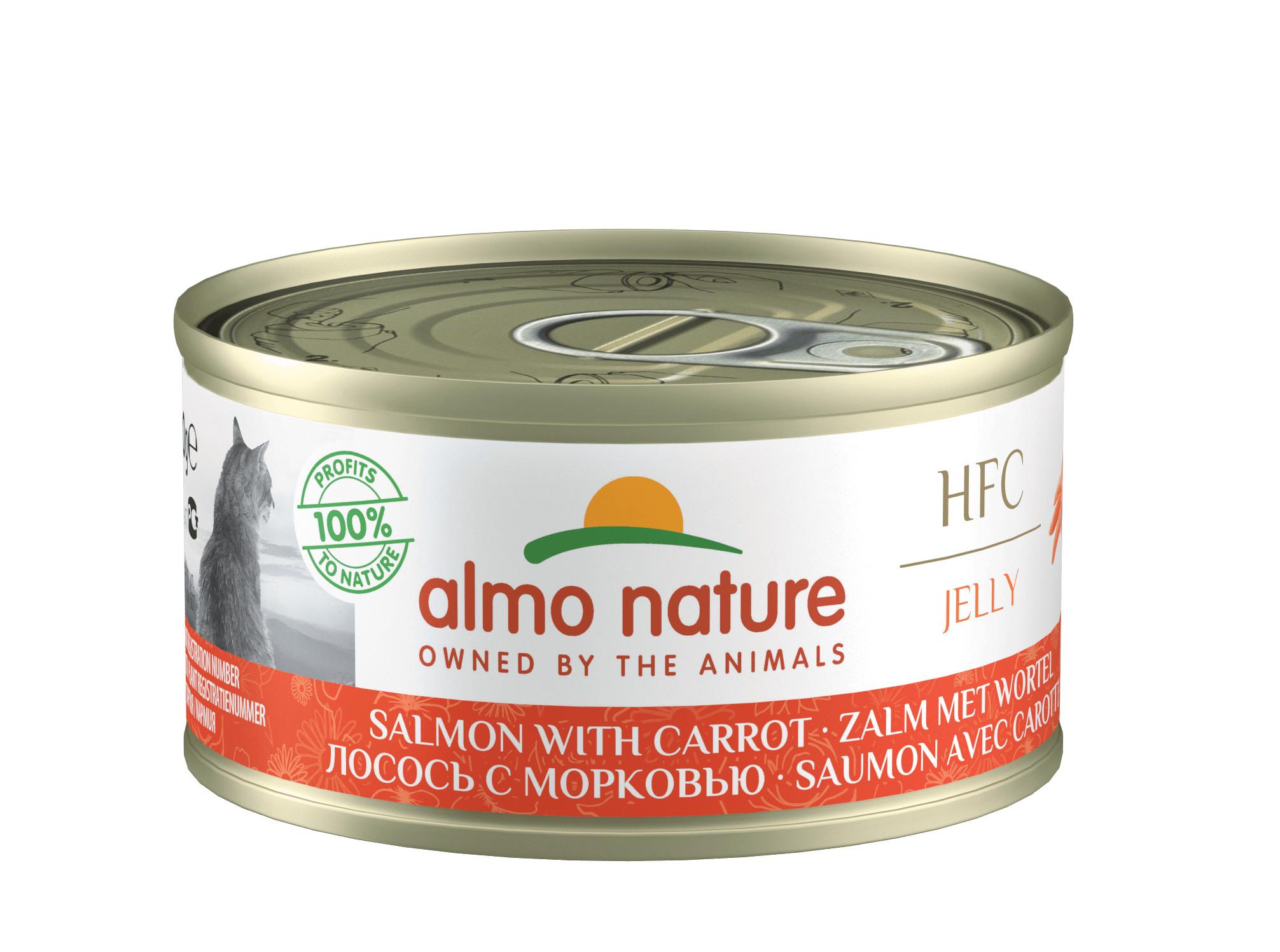 Almo Nature HFC Jelly Lachs mit Karotten Katzenfutter