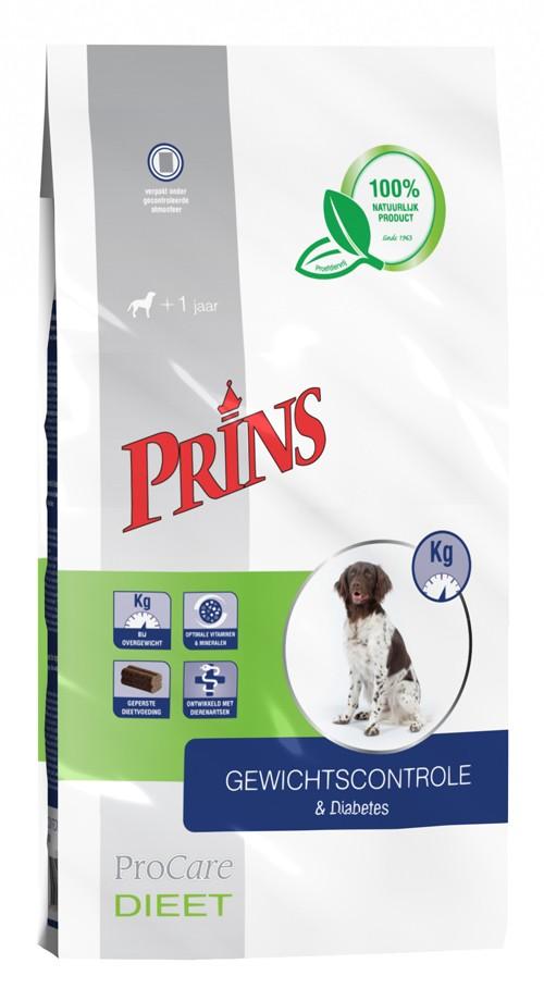Prins Procare Dieet Gewichtscontole & Diabetes voor de hond