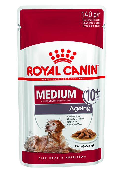 Royal Canin Medium Ageing 10+ natvoer 10 zakjes