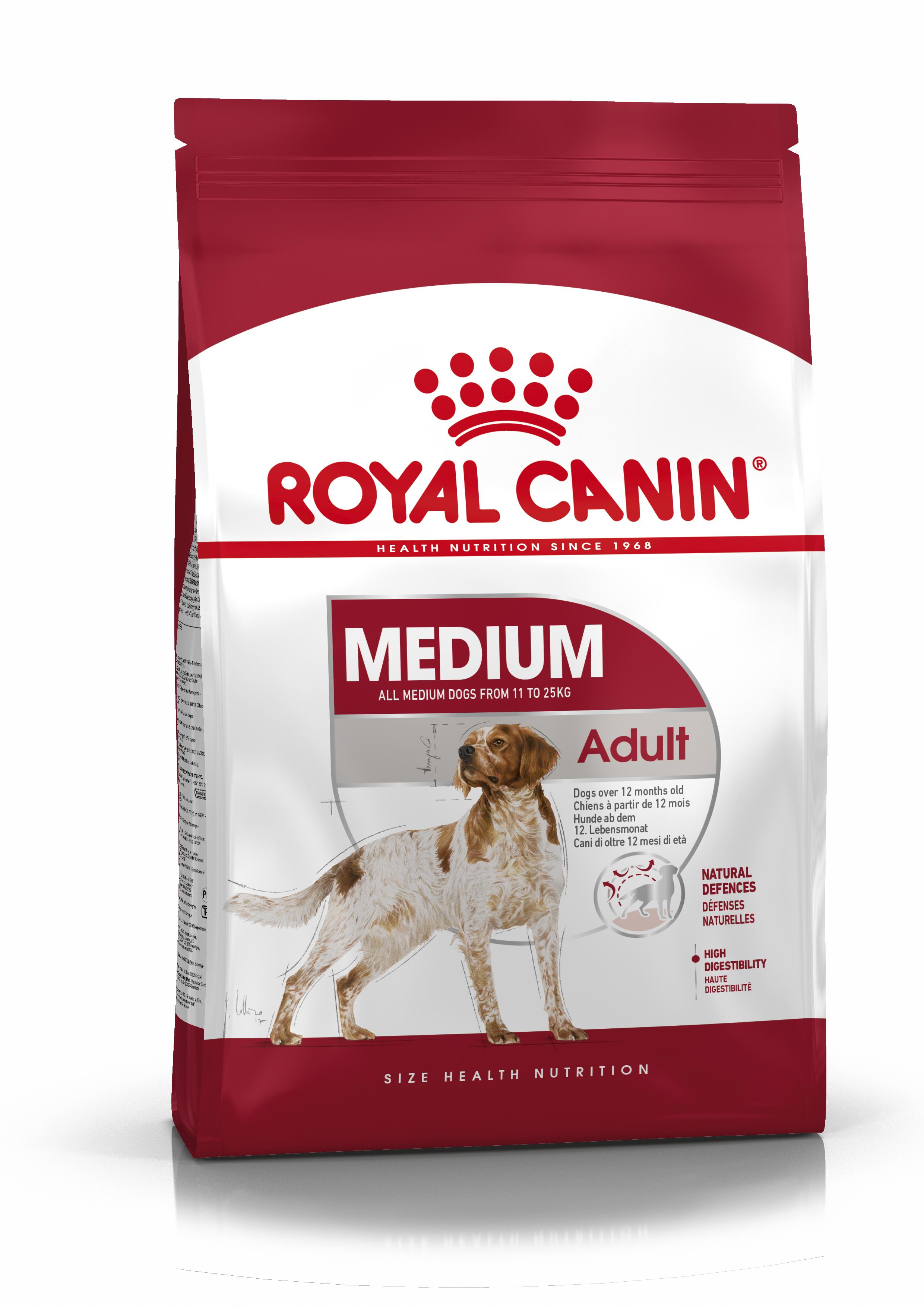 Royal Canin Medium Adult hondenvoer 15 + 3 kg gratis